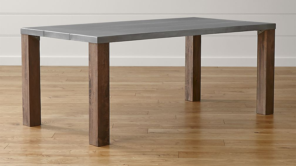 Galvin Metal Top Dining Table Crate And Barrel