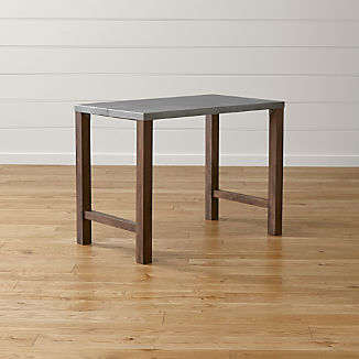 """Galvin 48"""" Metal Top High Dining Table"""