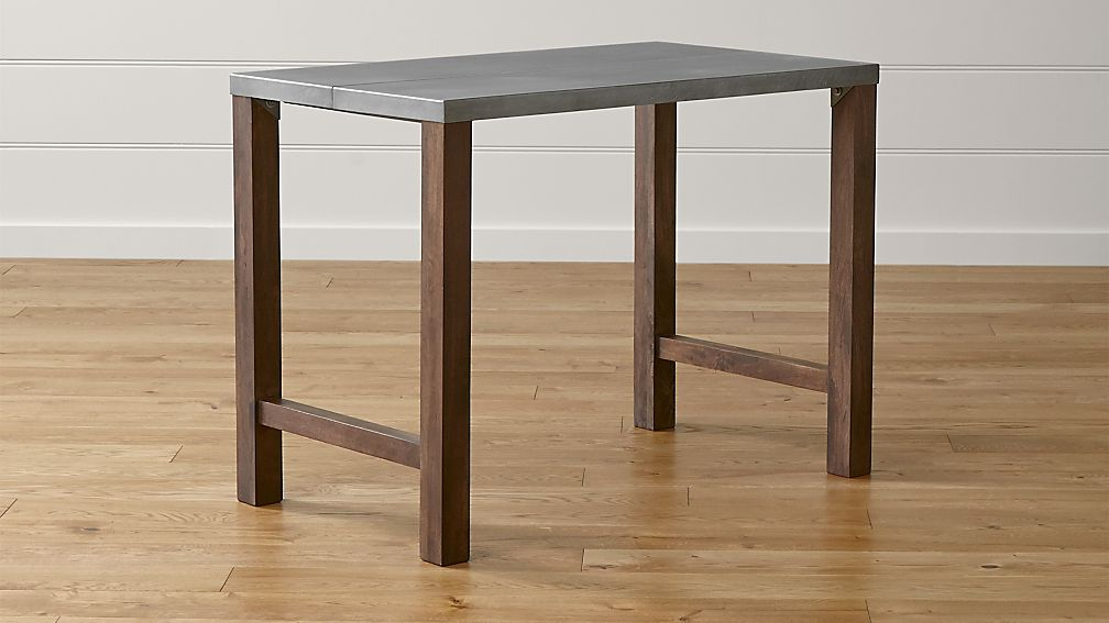 Galvin Metal Top High Dining Table In Tables Reviews