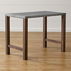 Galvin 72 Quot Metal Top Dining Table Reviews Crate And Barrel