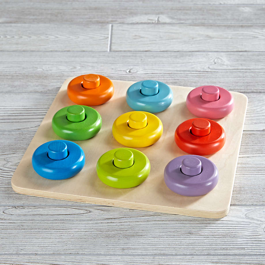 Roundabout Wooden Puzzle + Reviews   Crate and Barrel Canada