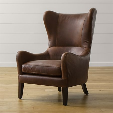Pleasant Garbo Leather Wingback Chair Short Links Chair Design For Home Short Linksinfo