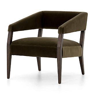 Gary Olive Green Velvet Chair