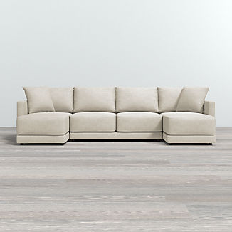 Gather 3-Piece Double Chaise Sectional