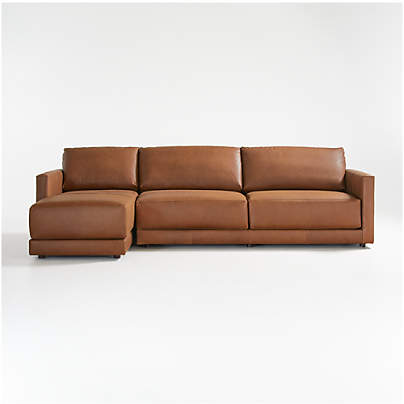 View testGather Leather 2-Piece Sectional