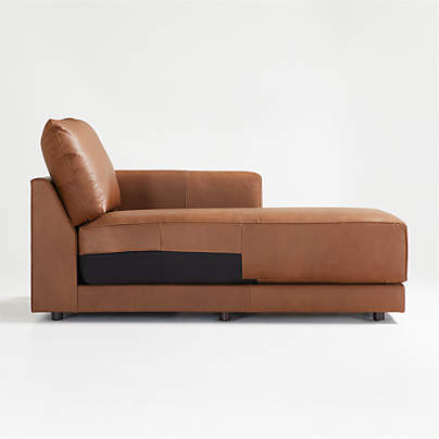 View testGather Leather Right-Arm Chaise