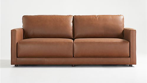 Gather Petite Leather Sofa