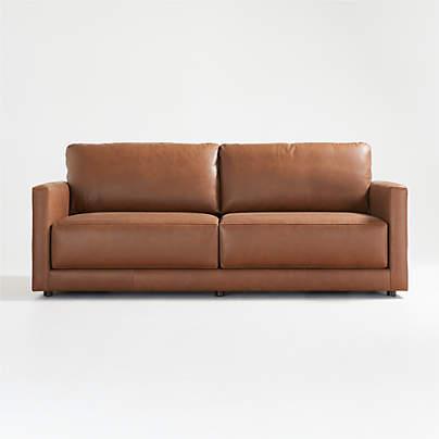 View testGather Leather Sofa