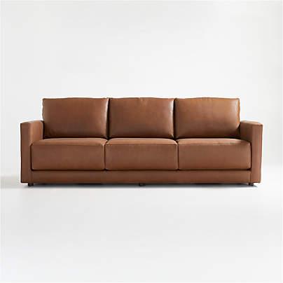 """View testGather 98"""" Leather Sofa"""