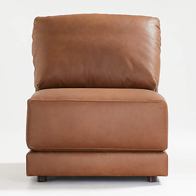 View testGather Leather Armless Chair
