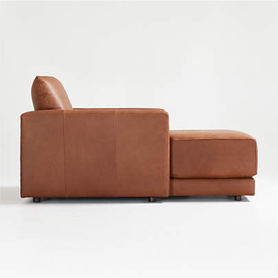 View testGather Leather Chaise
