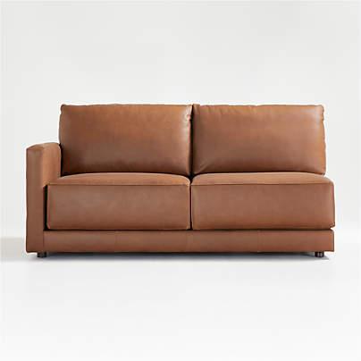 View testGather Leather Left-Arm Apartment Sofa