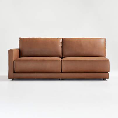 View testGather Leather Left-Arm Sofa