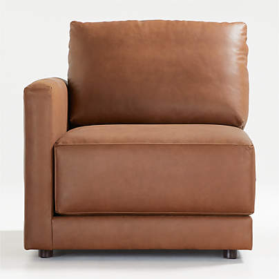 View testGather Leather Left-Arm Chair