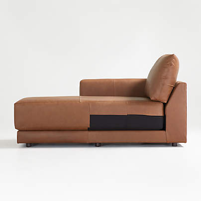 View testGather Leather Left-Arm Chaise