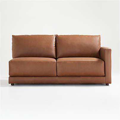 View testGather Leather Right-Arm Apartment Sofa