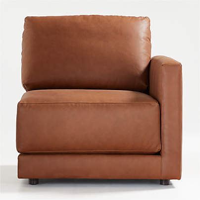 View testGather Leather Right-Arm Chair
