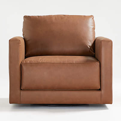 View testGather Leather Swivel Chair