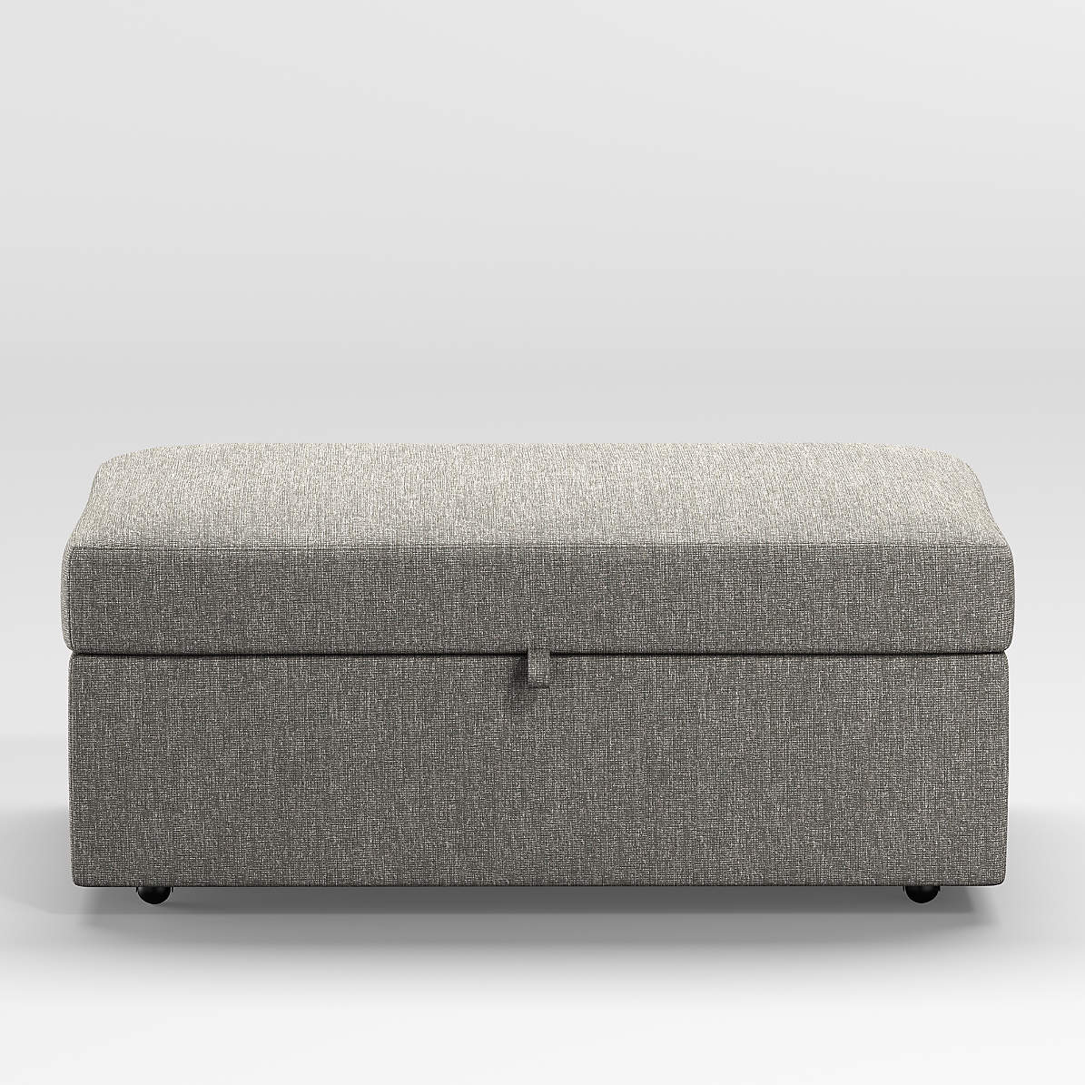 Gather Storage Ottoman With Tray Reviews Crate And Barrel