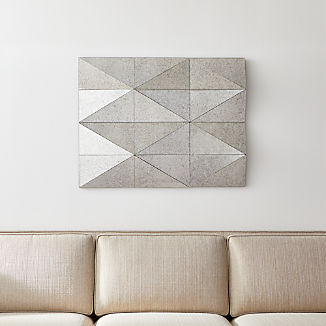 Gemma Antiqued Faceted Wall Mirror