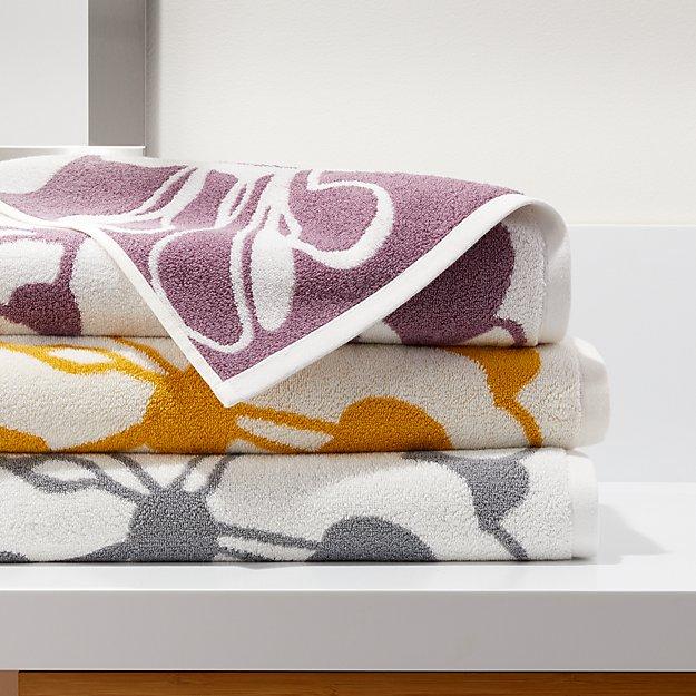 Gemma Organic Floral Bath Towels - Image 1 of 7