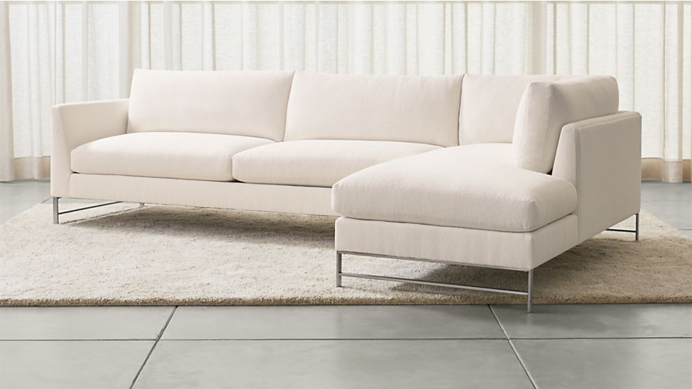 Genesis 2 Piece Right Arm Chaise Sectional With Brushed