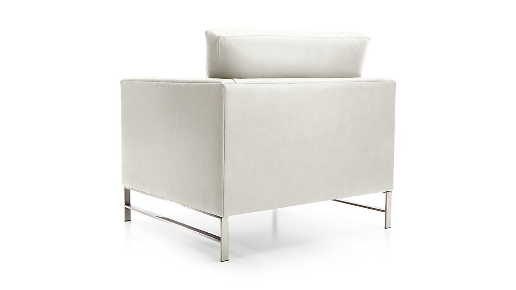 Genesis Leather Chair with Brushed Stainless Steel Base
