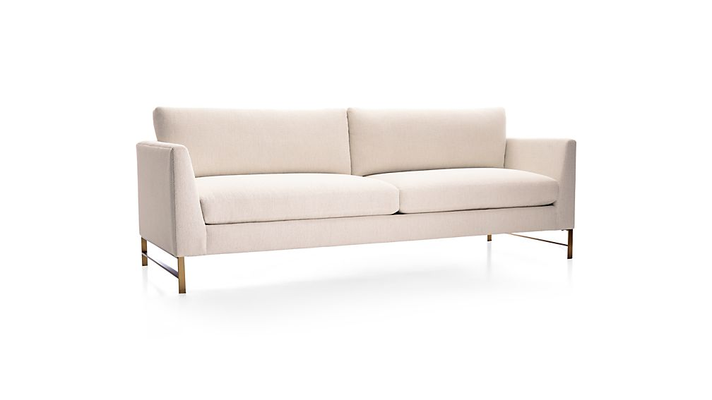 Genesis Sofa with Brushed Brass Base