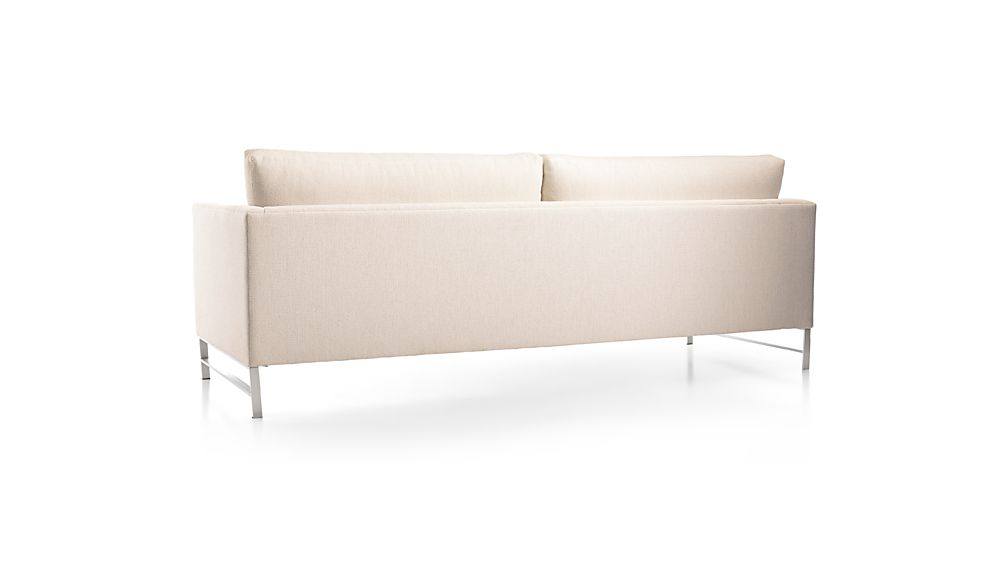 Genesis Sofa with Brushed Stainless Steel Base
