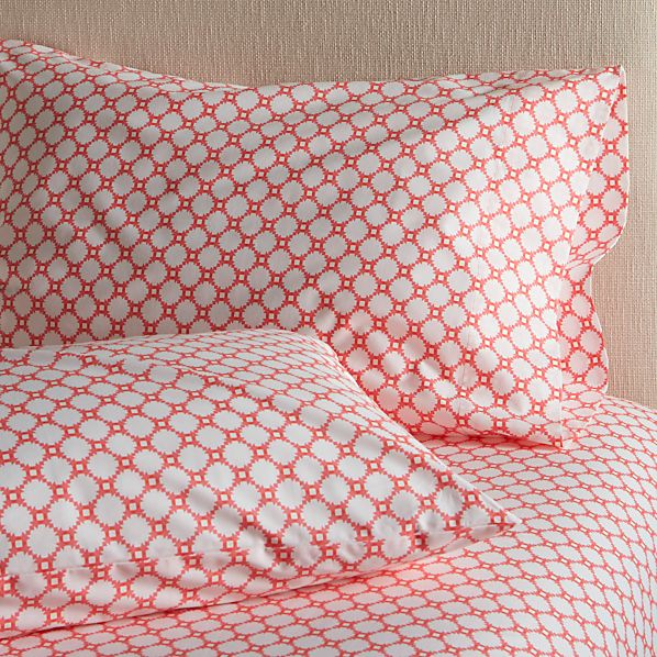 Set of 2 Genevieve Standard Pillow Cases