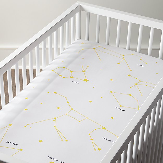 Genevieve Gorder Organic Constellation Crib Ed Sheet Reviews Crate And Barrel
