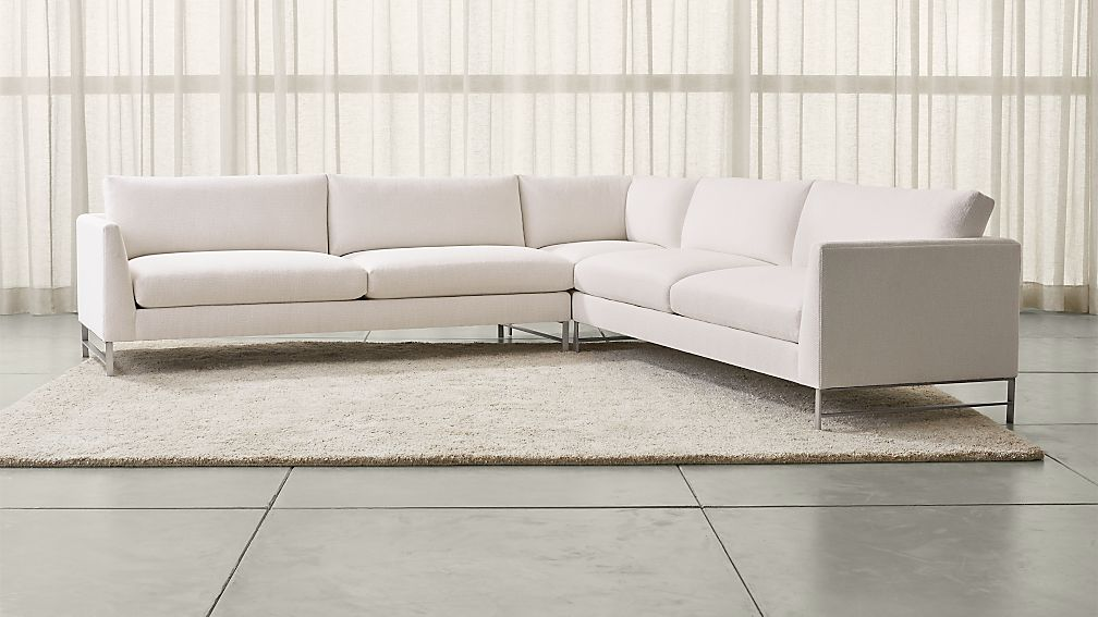 Genesis 3-Piece Left Corner Sectional with Stainless Steel Base
