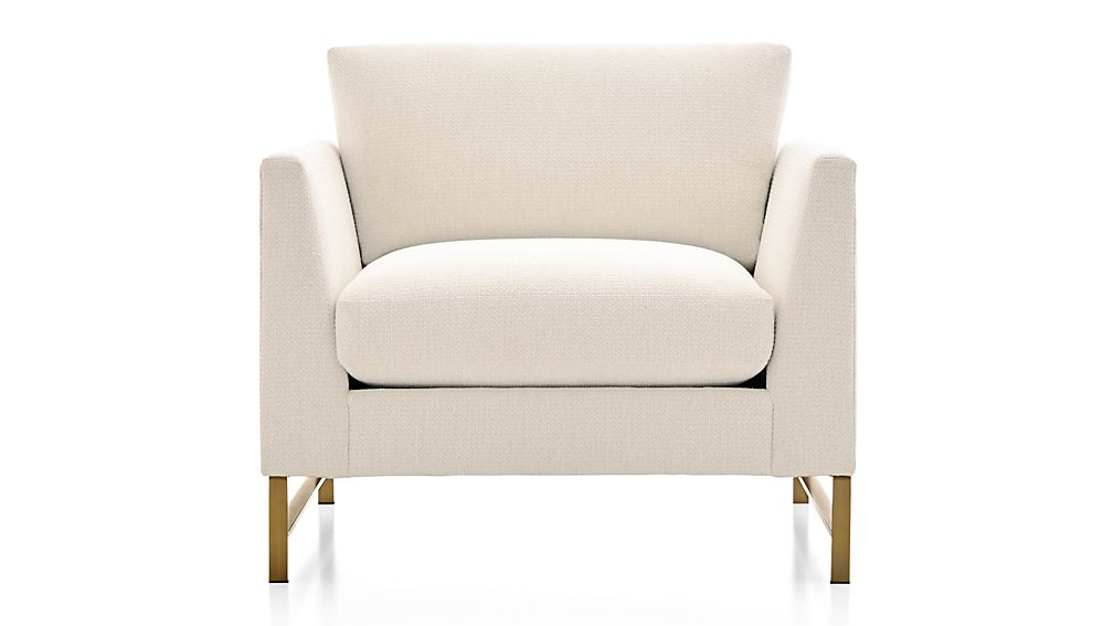 Genesis Chair with Brushed Brass Base