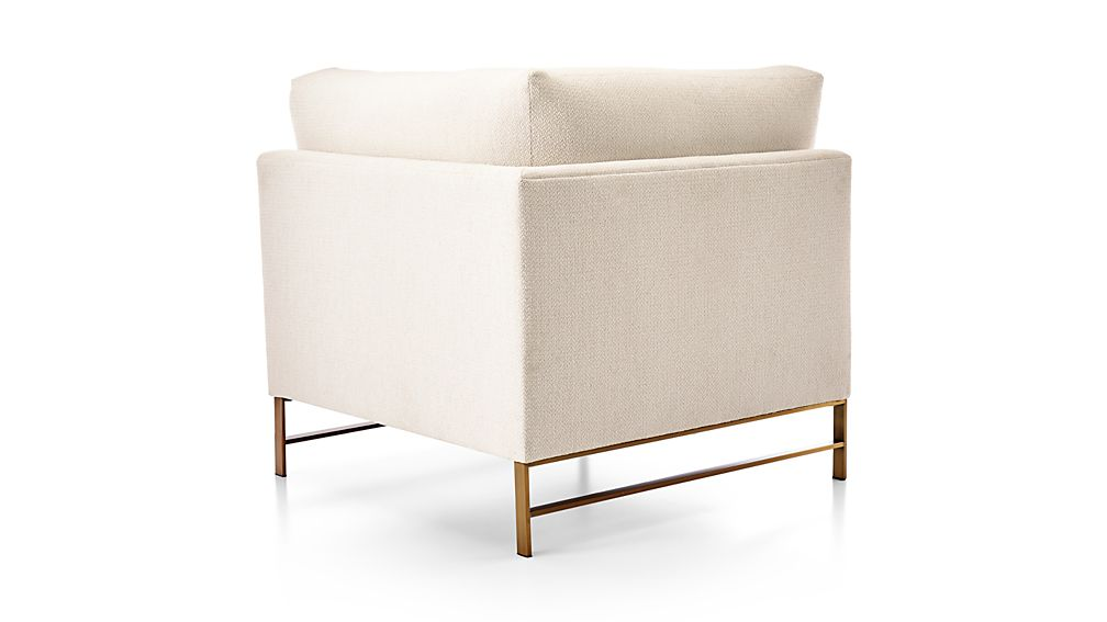 Genesis Left Corner Chair with Brushed Brass Base