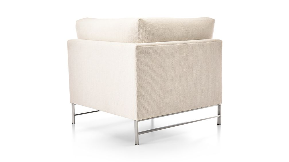 Genesis Left Corner Chair with Brushed Stainless Steel Base