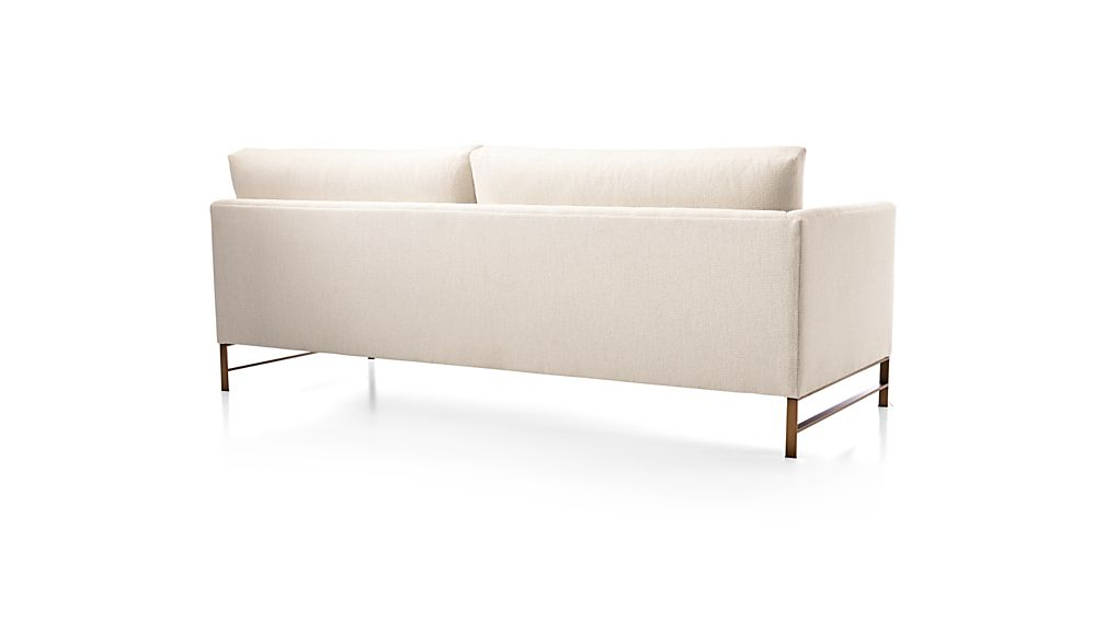 Genesis Left Arm Sofa with Brushed Brass Base