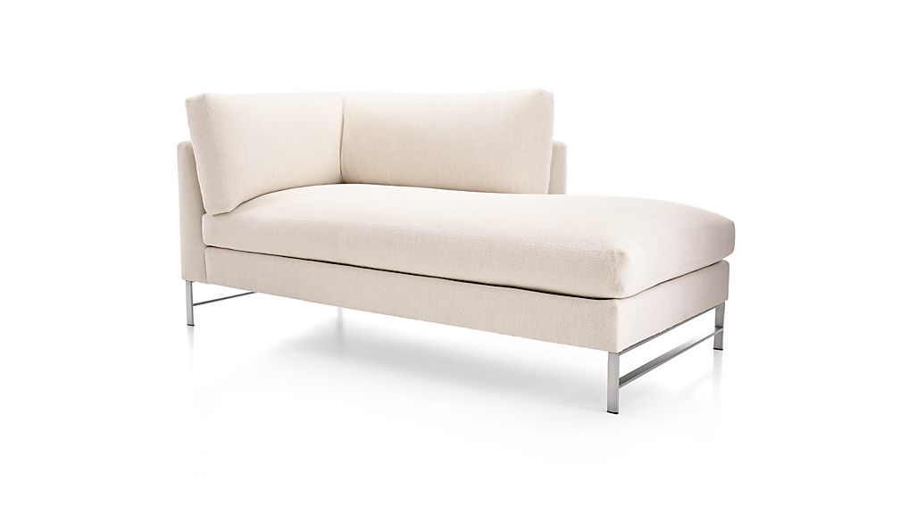 Genesis Right Arm Chaise with Brushed Stainless Steel Base