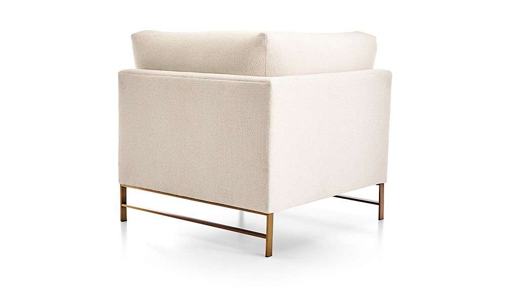 Genesis Right Corner Chair with Brushed Brass Base
