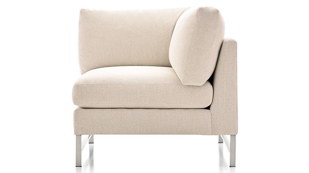Genesis Right Corner Chair with Brushed Stainless Steel Base