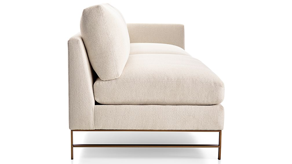 Genesis Right Arm Sofa with Brushed Brass Base