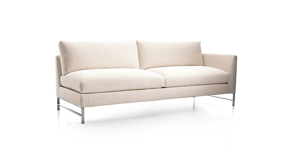 Genesis Right Arm Sofa with Brushed Stainless Steel Base