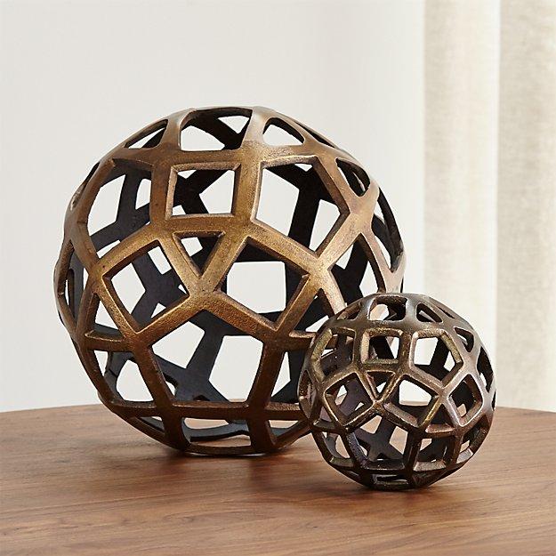 Geo Decorative Metal Balls - Image 1 of 12