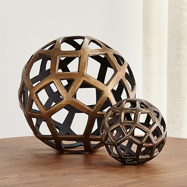 Metal Decorative Balls Fascinating Geo Decorative Metal Balls  Crate And Barrel Decorating Design