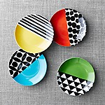Set of 4 Geo Dot Appetizer Plates