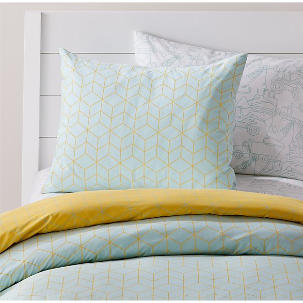 Organic Geo Tile Mint Pillow Sham - Image 1 of 5