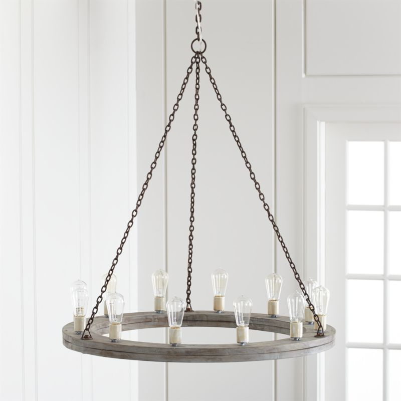 Geoffrey 36 round wood chandelier reviews crate and barrel aloadofball