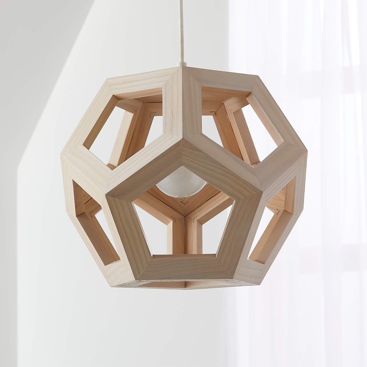 Wood Geometric Pendant Light Reviews Crate And Barrel