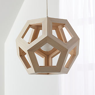Wood Geometric Pendant Light
