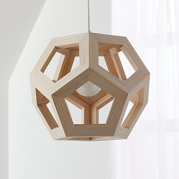 Wood Geometric Pendant Light Reviews Crate And Barrel
