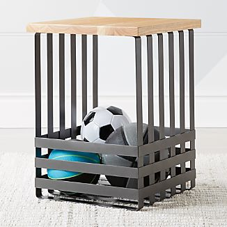 Geometric Black Side Table